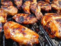 Chicken wings on the grill! Find out more at www.bbqbackyard.com!