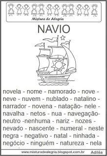 Fichas de leitura - letra N
