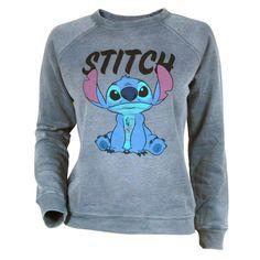 Womens Lilo and Stitch Sweatshirt Grey