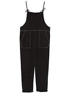 Sunsent Black Pockets Denim Overalls. >>> Click on the image for additional details. (This is an affiliate link) #Overalls Denim Overalls, Boy Fashion, Latest Fashion Trends, Pockets, Tank Tops, Link, Image, Women, Fashion For Boys