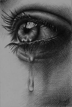 Tears by crying eyes, eye sketch, drawing sketches, cool sketches, art Eye Drawing Tutorials, Drawing Techniques, Real Techniques, Art Tutorials, Pencil Art Drawings, Drawing Sketches, Eye Drawings, Sketching, Cry Drawing