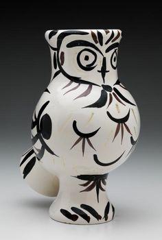 Pablo Picasso, 1951, Vase Owl (Chouette aux plumes), Madoura, Vallauris, France.