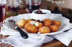 Take a trip to France with these delicious goat's cheese fritters.
