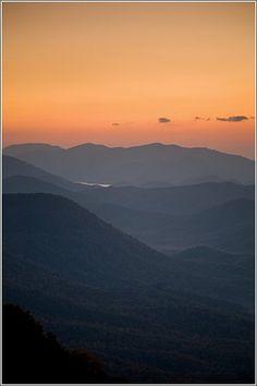 Sunrise at Jones Gap and Caesars Head state parks
