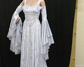 Renaissance medieval handfasting  wedding dress custom made