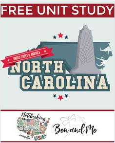 """FREE North Carolina Unit Study for grades 3-8 -- learn about the """"Tarheel State"""" in this 12th installment of Notebooking Across the USA."""
