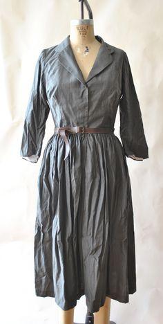 Image of coat dress grey