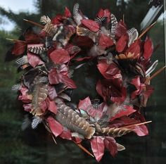 diy fall wreath with turkey feathers, crafts, seasonal holiday d cor, wreaths, The finished product