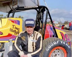 """Vintage Sprint Cars on Twitter: """"Doug Wolfgang poses with the Gambler #18 machine before racing at East Bay in 1983. https://t.co/PRJNJjqOU2"""""""