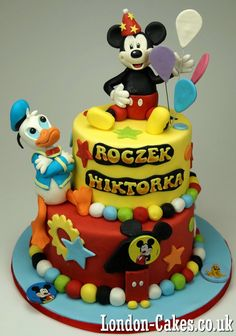 Disney Birthday Cakes, London Mickey Mouse and Donald Duck Birthday Cake, More Children Birthday Cakes in London http://www.london-cakes.co.uk #disneycakes #mickeymousecakes #donaldduckcakes #bestcakeslondon