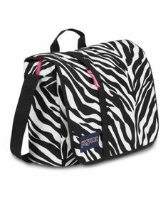 JanSport Market Street Messenger Bag, Black/White/Fluorescent Pink  - Click image twice for more info - See a larger selection of kids messenger bag at http://kidsbackpackstore.com/product-category/kids-messenger-bags/ - kids, juniors, back to school, kids fashion ideas, school supplies, backpack, bag , teenagers,  boys, girls  gift ideas,school bag,