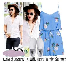 """Walking Around LA with Harry in the Summer"" by albamonkey ❤ liked on Polyvore featuring MINKPINK and Vans"