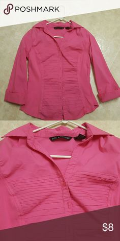 Pink button down  large Zac & Rachel pink large shirt Zac & Rachel Tops Button Down Shirts