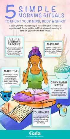 5 Simple Morning Rituals to Uplift Your Mind, Body & Spirit - Ayurveda Lifestyle Meditation Benefits, Healing Meditation, Morning Meditation, Daily Meditation, Bedtime Meditation, Mindfulness Benefits, Meditation Corner, Meditation Rooms, Sacral Chakra Healing