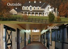 Outside-Inside at Rolling Ridge stables! Doesn't this give you barn fever? Visit our website for more information www.classic-equine.com #classicequine #besthorsestalls #horselove #horsestalls #barnlove #CEE