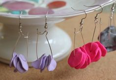Handmade clay earrings I Heart Nap Time | I Heart Nap Time - How to Crafts, Tutorials, DIY, Homemaker