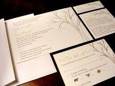 Love Grows Tree Custom Color Wedding Invitations