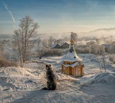 A Morning Meditation. Ukraine, Faith Of Our Fathers, Mein Land, Church Architecture, Beautiful Dream, Mundo Animal, Landscape Art, Countryside, Woodland