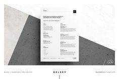 Creative Market Resume/CV - Free Cover Letter Template Kelsey by bilmaw creative on @creativemarket Clean Resume/CV is very Clean, Creative, Modern, High Class & Professional Design Template. Save your money & cost your time, impress your Boss with this, Wow! One Page Resume/CV & One Page Cover Letter. Text, Fonts, Color & All Elements 100% Editable & Customizable.