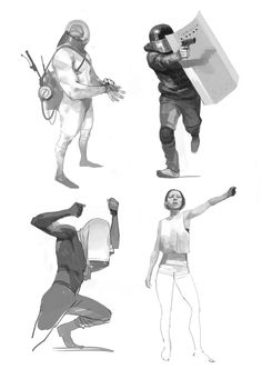 Bunch by shanyar on deviantart astronaut character design re Character Concept, Character Art, Concept Art, Shield Drawing, Design Steampunk, Sci Fi Characters, Drawing Reference Poses, Character Costumes, Realistic Drawings