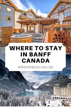 Most Of These Hotels Are Located In Banff National Park And Are Less Than An Hour Away From All Of The Must-Visit Attractions Including Lake Louise, Lake Moraine And Banff Gondola Ride. Here Are My Favorite Hotels So Far For Where To Stay In Banff Alberta Canada, Plan My Road Trip, Quebec, Ottawa, Oh The Places You'll Go, Places To Travel, Travel Destinations, Dream Vacations, Vacation Travel
