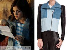 Pretty Little Liars: Season 6 Episode 7 Aria's Leather Denim Jacket |