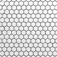 White Hexagon Ii Porcelain Mosaic Floor Decor In 2020 Porcelain Mosaic Porcelain Hexagon Tile Tile Bathroom