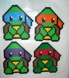 Teenage Mutant Ninja Turtles Perler Bead by LeilaniCre8tions