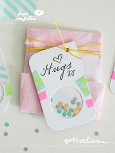 DIY Tags confettis