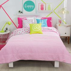 Girls Twin and Full Phospho Comforter Set #VNG