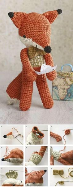 Amigurumi Fox Tutorial #amigurumi #amigurumipattern #crochettutorial #crochetaddict #crochettoy #knittingtoy #knitting