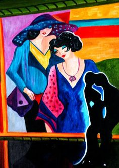 Itzchak Tarkay Lady Sitzendem, Paintings