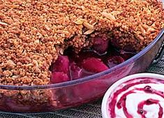 Boysenberry Apple Crumble recipe from Food in a Minute