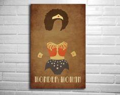 Wonder woman Natural Hair minimalist comic poster by DEPdesigns