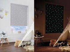 Des stores phosphorescents pour admirer les étoiles Bird Houses, Room Inspiration, Kids Room, Sweet Home, Curtains, Home Decor, Rooms, Lifestyle, Children