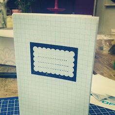 Little notebook I made with my @moosmade label stamp