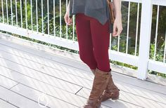 High Waisted Zippered Fleece Leggings - 6 Colors! 55% off at Groopdealz