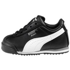 Puma Roma Basic Kids Toddler 354260-01 Black White Shoes Sneakers Td Baby Size 9 #Puma #Athletic