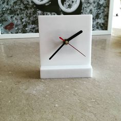 Marble table clock with a real mechanism!!!!So unique...
