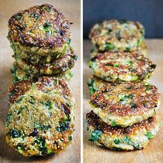 Lentil burgers and Amaranth Raw Food Recipes, Veggie Recipes, Cooking Recipes, Healthy Recipes, Helathy Food, Vegan Vegetarian, Vegetarian Recipes, Food Combining, Exotic Food