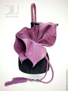 """Рюкзаки ручной работы. """"Торба-Орхидея"""". Diana Ulanova. Интернет-магазин Ярмарка Мастеров. Цветы ручной работы, кожа натуральная"""
