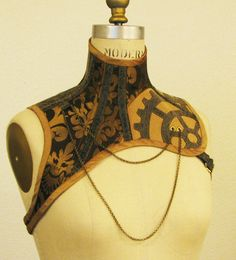 Steampunk Corset Halter by ElectraDesigns on deviantART.  This is awesome, but it has a flaw... it's so unique, what would you ever find to wear with it?