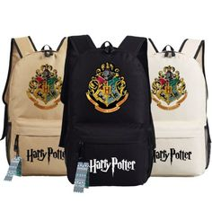 New-Harry-Potter-Hogwarts-School-Badge-Schoolbag-Backpack-Book-Bag-Multi-Color