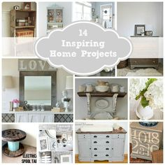 14 Inspiring Home Projects  *love the Mason jar storage idea