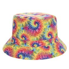 5e10d2d37ff New Sexy Flat Bucket Hat Men Women 3D Printed TIE DYE Bob Beach Hip Hop  sombrero