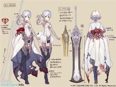 SinoAlice has released many pre-registrations and new artwork Fina . - SinoAlice has released many pre-registrations and new artwork Final Fantasy Dojo - Character Model Sheet, Character Creation, Game Character, Character Concept, Concept Art, Character Design Cartoon, Character Design References, Character Design Inspiration, Manga Characters