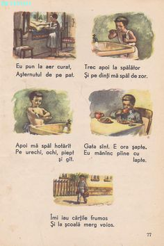 Abecedar 1959 – Un zâmbet de copil… Romanian Language, Science Activities For Kids, Vintage School, Book Illustration, Illustrations, History Facts, Kids Education, Beautiful Paintings, Teacher Resources