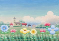 View Blumen vor Dorf by Ivan Rabuzin on artnet. Browse upcoming and past auction lots by Ivan Rabuzin. Ivan Rabuzin, Circle Drawing, Painting For Kids, Children Painting, Naive Art, Global Art, Children's Book Illustration, Colouring Pages, Art Market