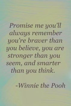 ~WINNIE the POOH on what a leader might say to their team members...