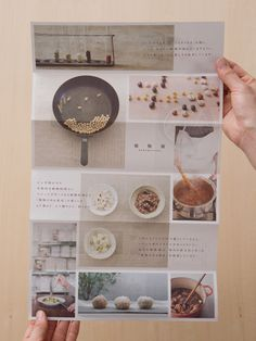 Baking leaflet - love the simplicity of the grid structure and muted neutral colour palette x